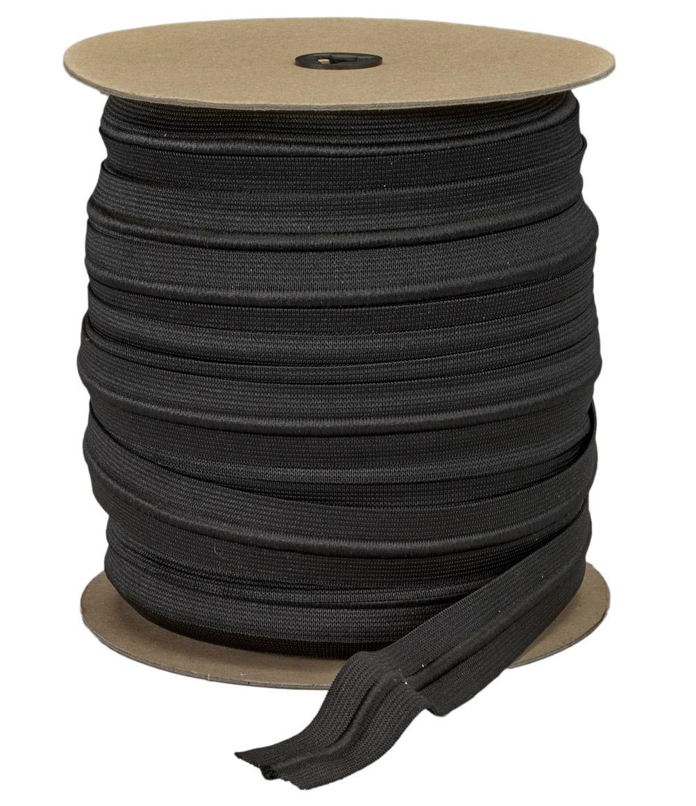Athletic Drawcord Elastics - Black Cord & Black Elastic