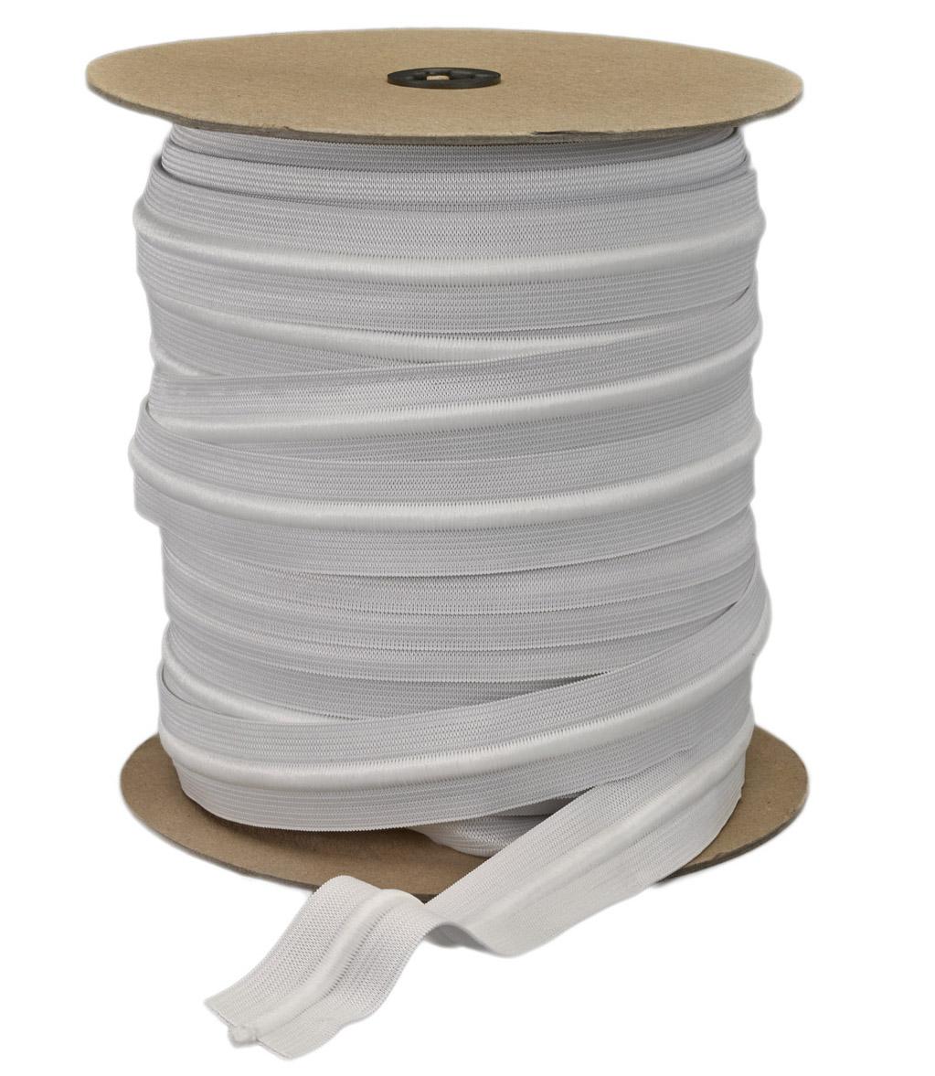 Athletic Drawcord Elastics - White Cord & White Elastic