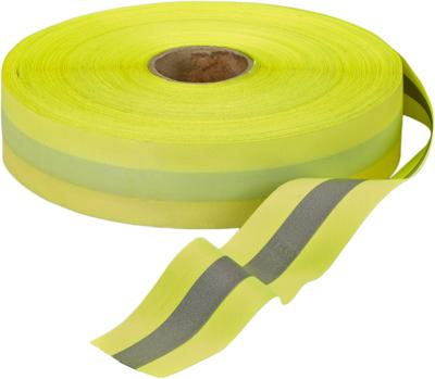 "Lime Safety Tape With 1/2"" Reflective Stripe"